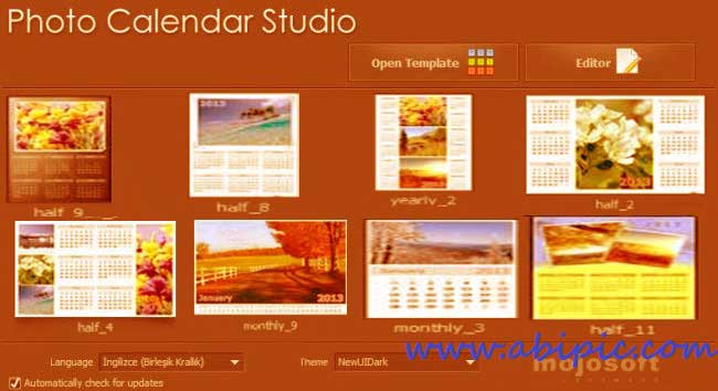 دانلود نرم افزار Mojosoft Photo Calendar Studio 2014 1.13