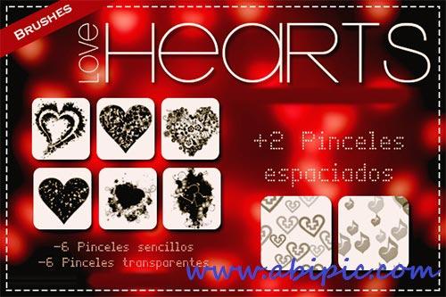 دانلود براش قلب ABR Brushes Love Hearts 2013