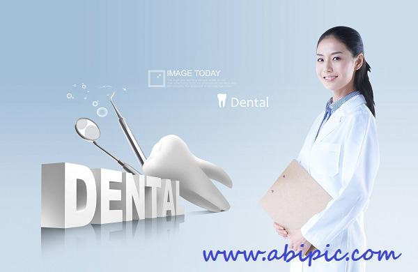 دانلود سورس لایه باز دندانپزشکی PSD Source Dental