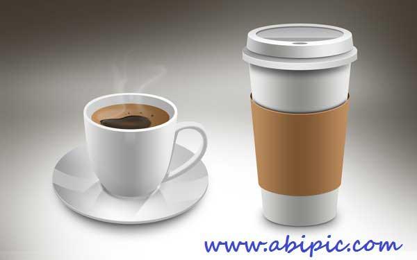 دانلود سورس لایه باز فتوشاپ فنجان قهوه به همراه فایل PNG