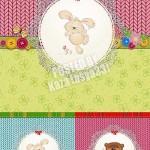 دانلود وکتور کارت های کودکانه شماره 4 Baby animal cards