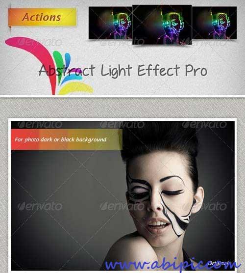 دانلود اکشن افکت های نور انتزائی برای عکس