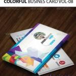 دانلود طرح وکتور کارت ویزیت رنگارنگ Colorful Business Card