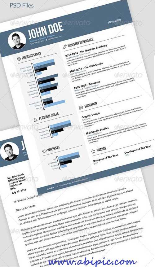 دانلود قالب کاور و نامه رزومه سری 8 Resume CV & Cover Letter
