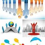 دانلود وکتور آدمک های 3 بعدی شغلی تجاری 3D business people vector