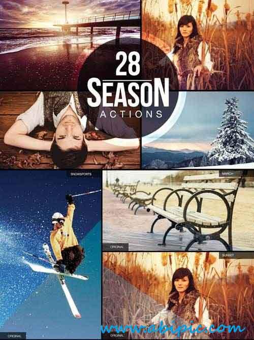 دانلود مجموعه 28 اکشن منتخب فتوشاپ 28 Season PS Actions