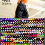 دانلود 450 گرادینت رنگارنگ و متفاوت برای فتوشاپ Various Photoshop Gradients