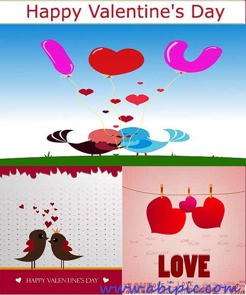 دانلود وکتورهای بسیار زیبا به مناسبت روز والنتاین Valentine's Day vector