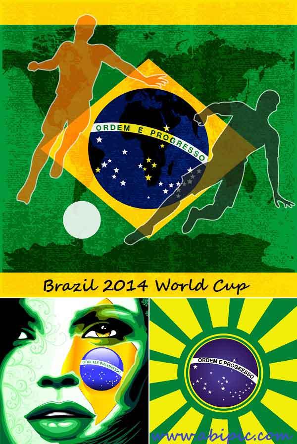 دانلود وکتور جام جهانی 2014 برزیل Vectors - Brazil 2014 World Cup