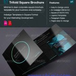 دانلود بروشور سه لت Square Trifold Brochure DoubleInk