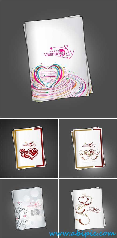 دانلود تصاویر وکتور کارت دعوت والنتاین  Valentine's day greeting card