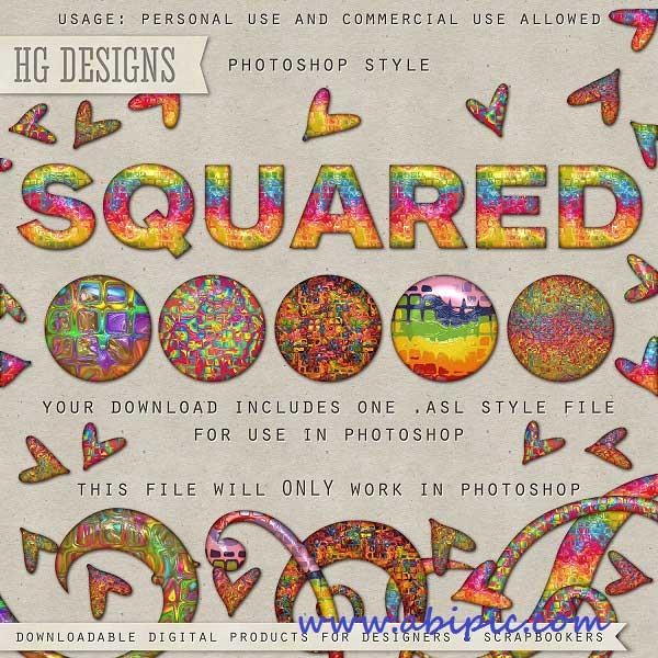 دانلود مجموعه استایل های رنگارنگ و زیبا برای فتوشاپ