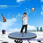 دانلود طرح لایه باز موسیقی شماره 2 Children's music stage PSD