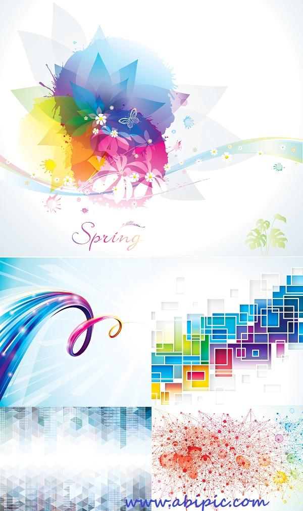 دانلود وکنور بک گراندهای انتزائی شماره 10 Abstract colorful floral spring background