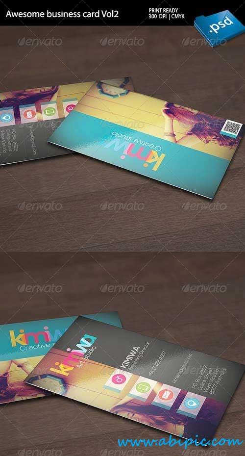 دانلود کارت ویزیت شرکتی شماره 9 Awesome business card