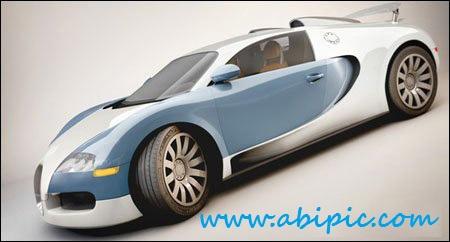 دانلود مدل آماده بوگاتی ویرون برای سینما 4 بعدی Bugatti Veyron Cinema 4D Model
