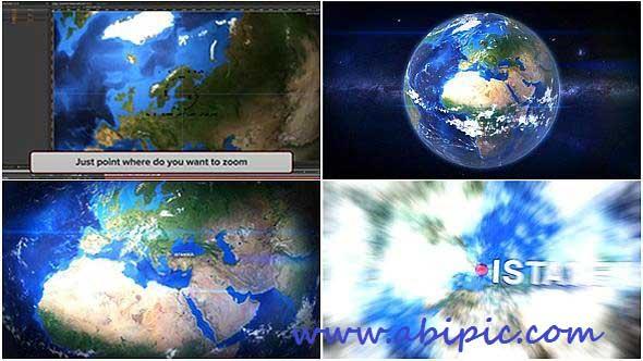 دانلود پروژه افترافکت کره زمین با قابلیت زوم Earth Zoom Project for After Effects