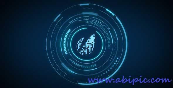 افترافکت نمایش لوگو بصورت تکنولوژی پیشرفته Hi-Tech Logo Reveal After Effects Project