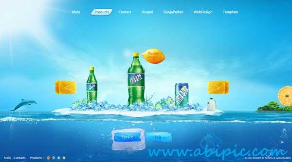 دانلود هدر لایه باز سایت برای شرکت ها مواد غذایی