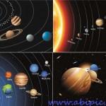 دانلود وکتور منظومه شمسی و سیاره ها Planet in the solar system vector