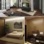 دانلود تصاویر استوک دکوراسیون داخلی ژاپنی Stock Photo Japanese style in interior