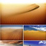 دانلود تصاویر استوک بیابان و تپه های شنی Stock Photo Sand dunes