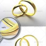 دانلود تصاویر پس زمینه شفاف حلقه ازدواج Wedding Rings Set PNG