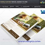 دانلود طرح لایه باز پوستر تورهای گردشگری طبیعت و محیط زیست Safari Travel Agency Flyer