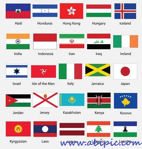 دانلود وکتور پرچم تمام کشورهای دنیا Worlds Flags Vector