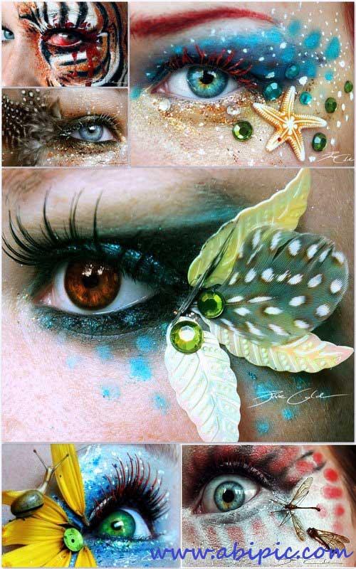 عکس تصاویر هنری و طرح های زیبا بر روی چشم Art Collection