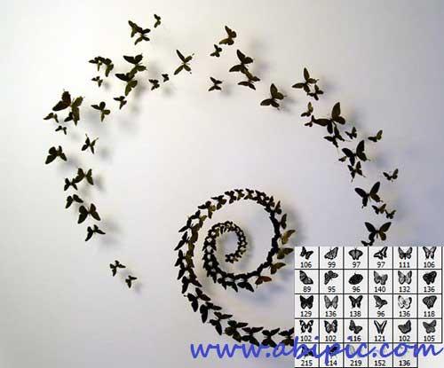 دانلود براش پروانه شماره 2 با طرح سیاه