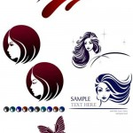 دانلود وکتور لوگو برای سالن های آرایشی و زیبایی Logo for beauty salons