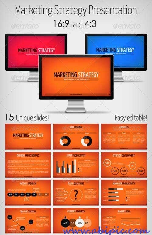 دانلود قالب آماده پاورپویت استراتژی بازاریابی Marketing Strategy Powerpoint Presentation