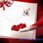 دانلود سورس لایه باز عاشقانه و رمانتیک مخصوص ولنتاین شماره 4 PSD Source Valentines Day