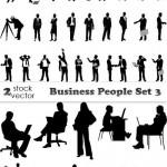دانلود تصاویر وکتور سیلوئت مردم در شغل های مختلف Vectors Business People