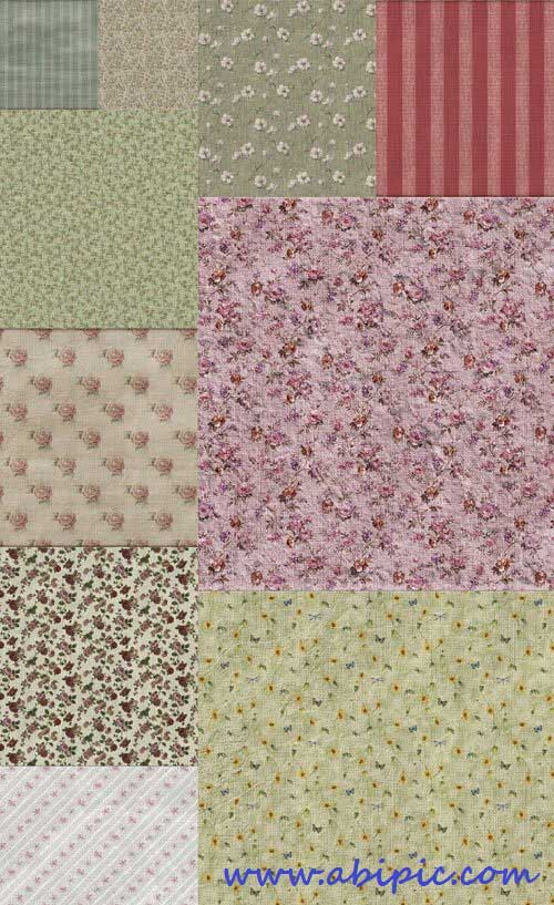 دانلود تکسچر کاغذ دیوارهای گلدار قدیمی Vintage papers floral Textures
