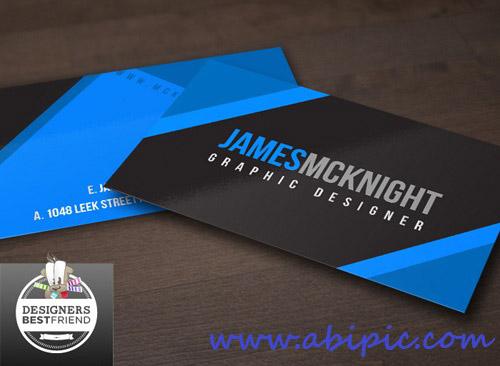 دانلود کارت ویزیت شرکتی شماره 10 Black and Blue Vector Business Cards