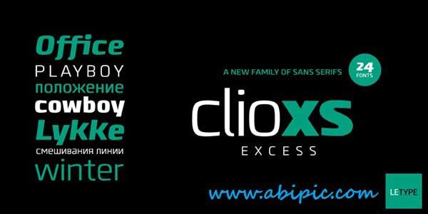 دانلود فونت انگلیسی Clio XS Font Family