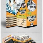 دانلود بروشور سه لت باشگاه های بدنسازی Fitness Club Trifold Brochure