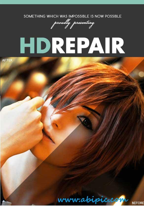 دانلود اکشن افزایش کیفیت عکس Pro HD Repair Kit