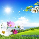 دانلود طرح لایه باز مخصوص عید نوروز و بهار شماره 6 Spring Scene PSD