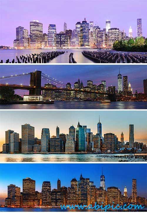 دانلود تصاویر استوک پانوراما شهر Stock Photo New York City panorama