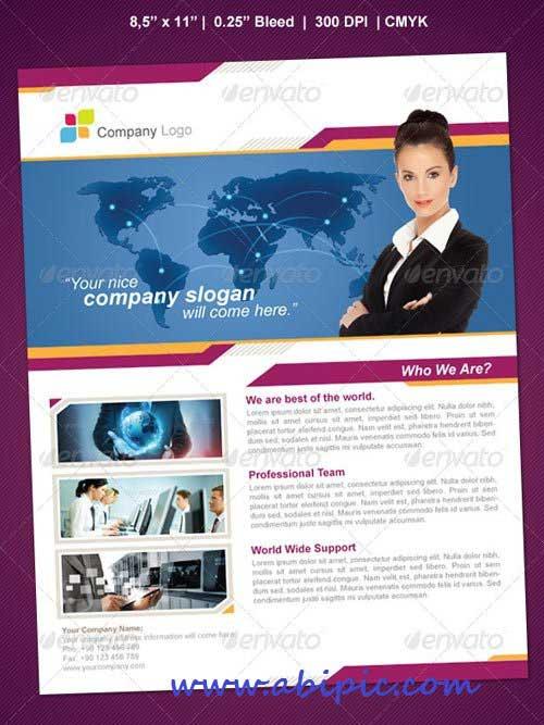 دانلود طرح لایه باز پوستر شرکتی شماره 5 World Business Flyer