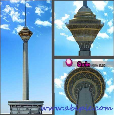 دانلود مدل 3 بعدی برج میلاد برای تری دی مکس Milad Tower 3D Model 3D max