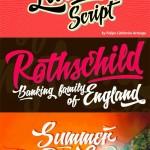 دانلود مجموعه فونت های انگلیسی Letrista Script Font Family