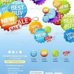 دانلود طرح لایه باز برچسب ها و نشان های خرید و فروش آنلاین Badges and Sale Tags