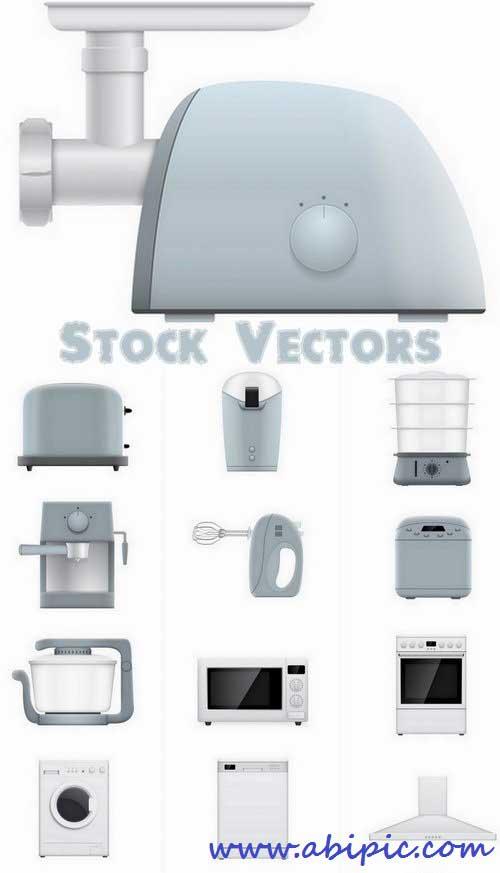 دانلود وکتور لوازم خانه و آشپزخانه Household appliances