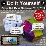 دانلود طرح آماده تقویم بصورت توپ 3 بعدی 3d Paper Ball Calendar