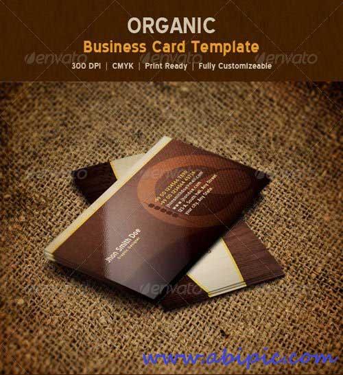 دانلود کارت ویزیت لایه باز شماره 112 Organic Nature Business Card