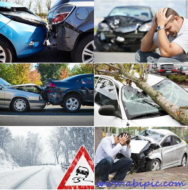 دانلود تصاویر استوک تصادف خودرو Stock Photo Car Accident